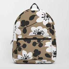 White Hepatica. Flower pattern Backpack