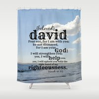 david olenick Shower Curtains featuring David by KimberosePhotography