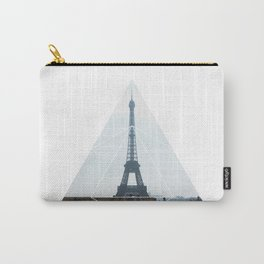 Eiffel Tower Art - Geometric Photography Carry-All Pouch