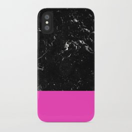 Pink Meets Black Marble #1 #decor #art #society6 iPhone Case