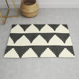 Lash in Black and White Rug