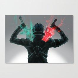 duel wielding SAO Canvas Print