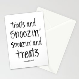 Treats and Snoozin' Stationery Cards