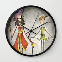 hook Wall Clocks featuring Pan & Hook by Jena Sinclair