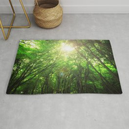 Endless Green Forest of Dreams Rug