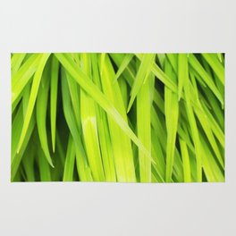 Summer Green Leaves Rug
