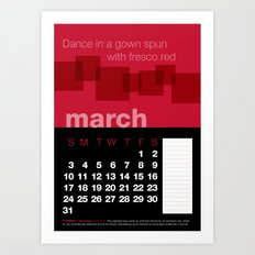 2013 Pigment to Pantone Calendar – MARCH Art Print