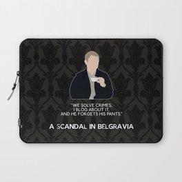 A Scandal in Belgravia - John Watson Laptop Sleeve