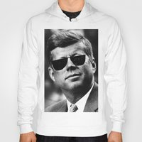 jfk Hoodies featuring BE COOL - JFK by Johnny Late Night Designs ॐ