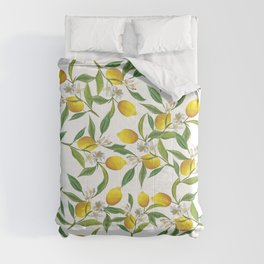 Spring lemons Comforters