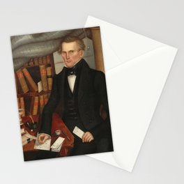 Vermont Lawyer Oil Painting by Horace Bundy Stationery Cards