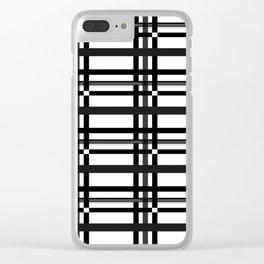 Black n' White plaid Clear iPhone Case