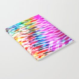 Crumpled Rainbow V Tie Dye Notebook