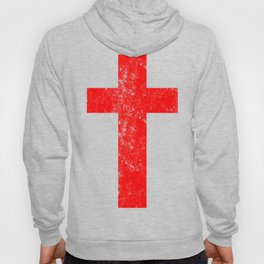 Cross (distressed red)  Hoody