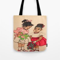 chile Tote Bags featuring Chile Boo by YMVA, LLC