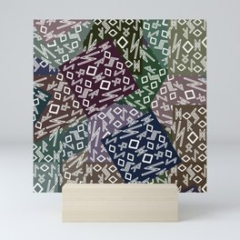 Runic patchwork II Mini Art Print