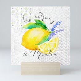 Les Citrons de Menton—Lemons from Menton, Côte d'Azur Mini Art Print