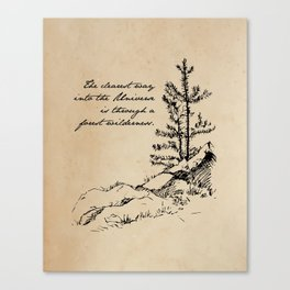 John Muir - The clearest way into the universe is through a forest wilderness Canvas Print