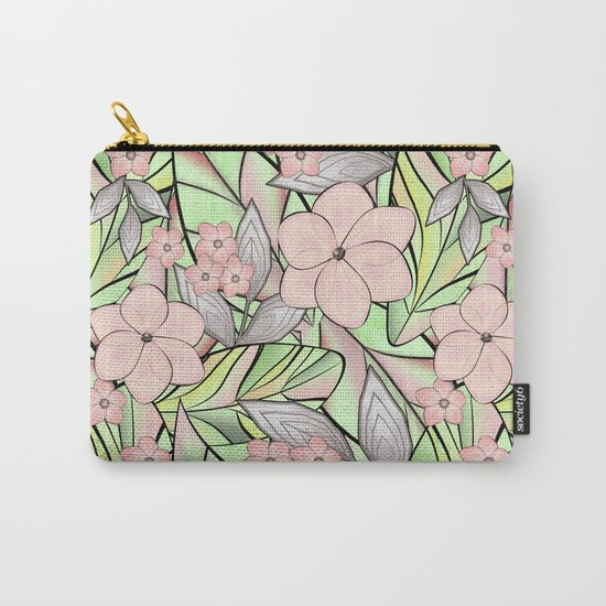 Delicate tropical floral pattern. Carry-All Pouch