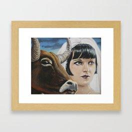 Pandora's Ox Framed Art Print