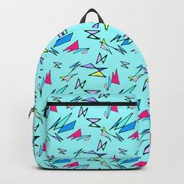 Wacky 80s//BLUE//Geo Pattern #3 Backpack