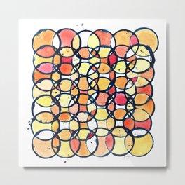 Circles - A Study in Warm Metal Print