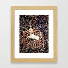 The Unicorn in Captivity Framed Art Print