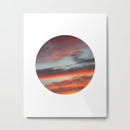 Berkshire Sunset I Circle Metal Print