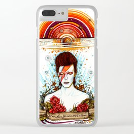 David Bowie Clear iPhone Case