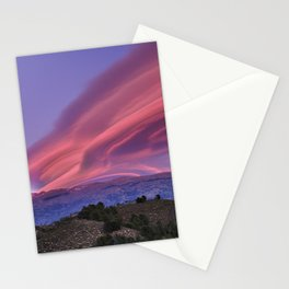 Lenticular Clouds At Sunset. Sierra Nevada. Caballo Mountain. 3.009 Meters Stationery Cards