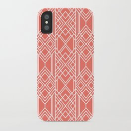 Peach Echo Geo iPhone Case