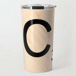 Scrabble Tile C - Large Scrabble Letters Travel Mug
