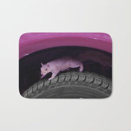 Up & down the wheel I go Bath Mat