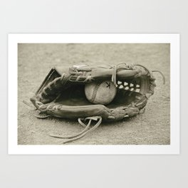 First Love 3 in Sepia Art Print