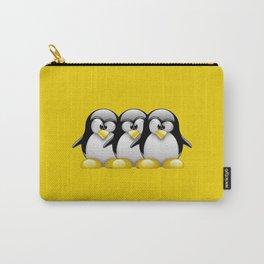 Linux Tux penguins friends Carry-All Pouch