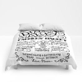Diagon Alley Farmers' Market Comforters