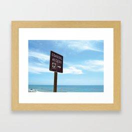 Coastal Access Framed Art Print