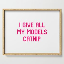I Give All My Models Catnip Pet Coordinator Quote Serving Tray