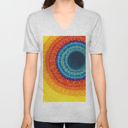 African American Masterpiece The Eclipse by Alma Thomas Unisex V-Neck