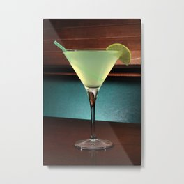 appletini cocktail  Metal Print