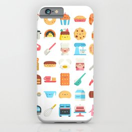 CUTE BAKERY PATTERN (CUTE CHEF BAKER) iPhone Case