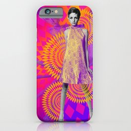 Supermodel Twiggy 1 - Supermodels of the Sixties Series iPhone Case