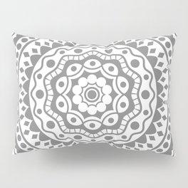 Mandala #3 (gray) Pillow Sham