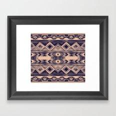 Southwest Pattern- Peach & Purple Framed Art Print