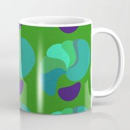Green Blue Violet Minimalst Abstract Pattern Coffee Mug