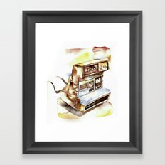 Vintage gadget series: Polaroid Sun 630 Framed Art Print