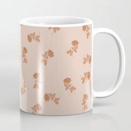 Monochrome cute dusty pink roses pattern Coffee Mug