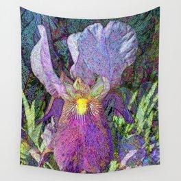 Impressionist Iris Wall Tapestry
