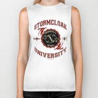 skyrim Biker Tanks featuring Stormcloak University(Skyrim) by Chubbybuddhist