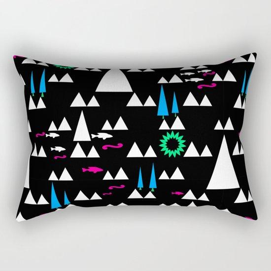 Ethnic simple pattern . Black . Rectangular Pillow
